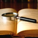 etymology, magnifying glass, book, antique, language, history