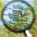 The Netherlands, Holland, Dutch, demonym, map, magnifying glass